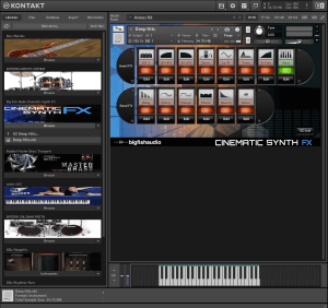 Big Fish Audio Cinematic Synth FX 1,67 GB ( Synth de Cinema ) ( 32 Bits )
