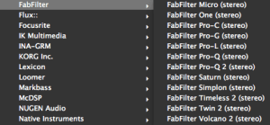 Fab Filter Lista