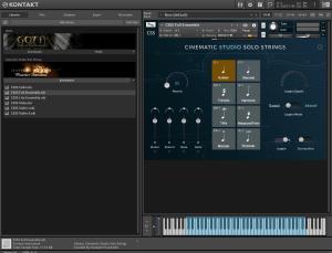 Cinematic Studio - Solo Strings 41,64 GB ( Strings ) ( 64 Bits ) ( Kontakt 5.6.8 )