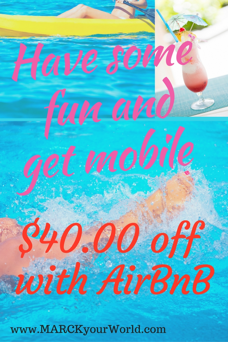 Mobile work and have fun! $40.00 discount with AirBnB!