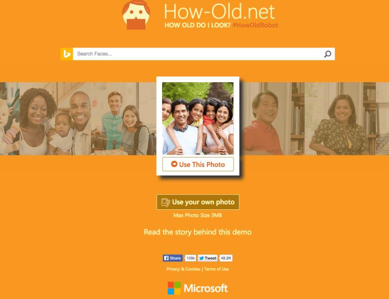 Une application qui peut deviner votre age