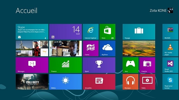 Accueil Windows8