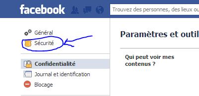Param-tres securité Facebook