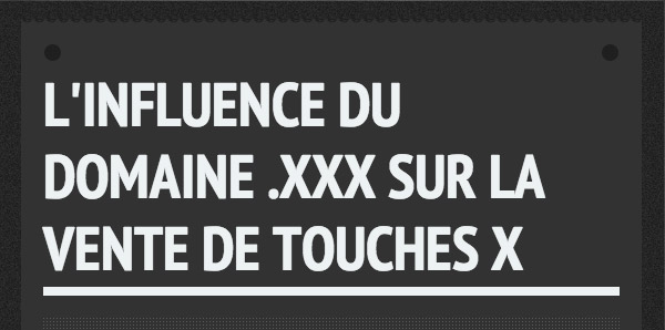 Influence de la touche X