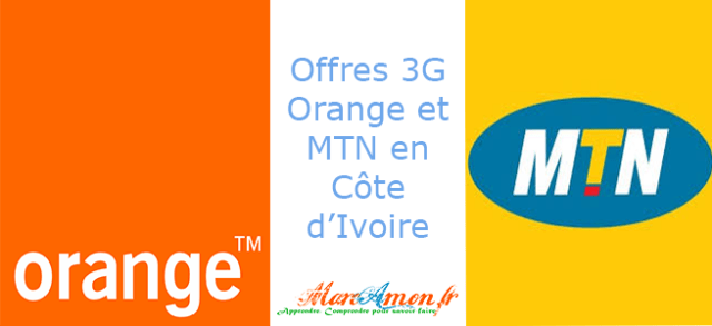 Offres 3G Orange et MTN