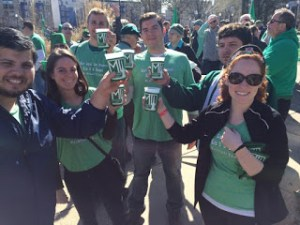 The Marc Lopez Firm Attends the 2016 St. Patrick's Day Parade in Indianapolis.