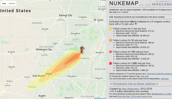 forensic engineering nuclear map