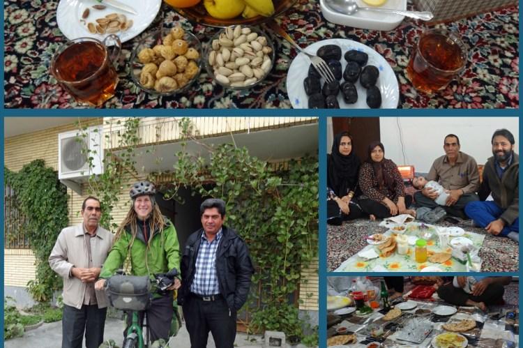 Ein weiteres Mal wurde ich im Iran von einer Familie eingeladen.