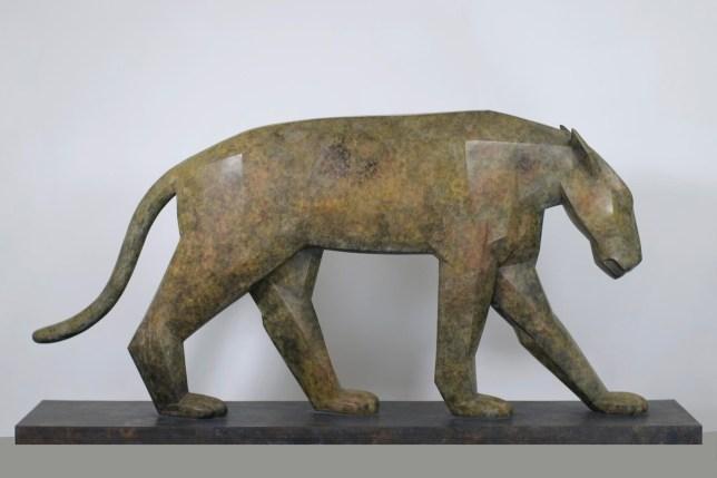 Marco Flierl, Pantera, 2007, Bronze, H 94 cm L 180 T 57 cm