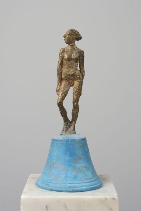 Glocke Kleine Dame, Bronze, 2004, H 15 cm