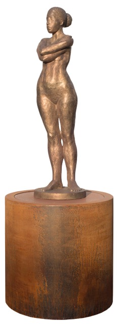 Brunnen Elena 2021, Bronze /Cortenstahl, H 166 cm
