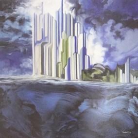 Blau City | Oléo sobre Tela 100 x 100 cm