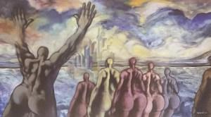 El Profeta | Oléo sobre tela 146 x 81 cm