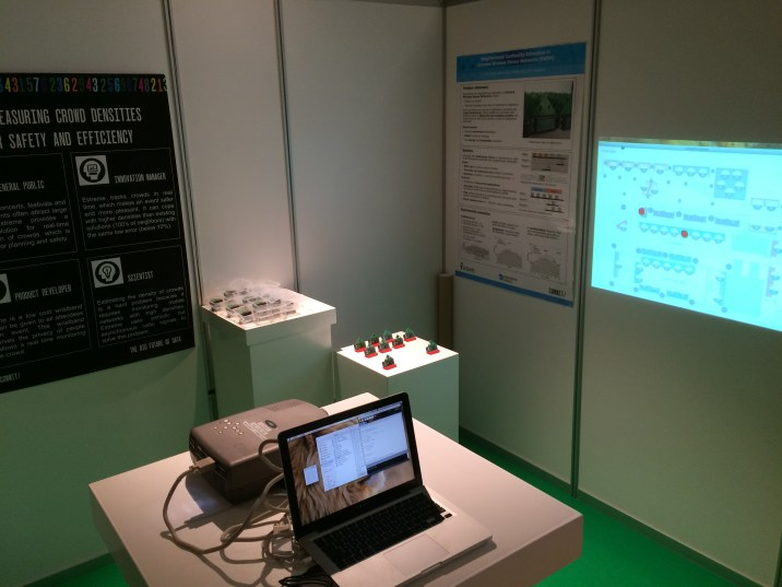 Testing a beta version of the system during The Big Future of Data, a Technology Fair in Amsterdam.