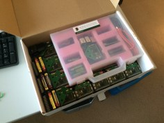 Sensors nicely packed and ready to be delivered to the Cobra museum