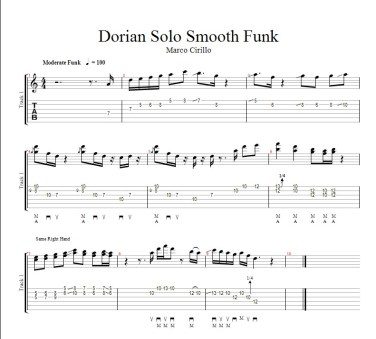 George Benson Style Guitar Lesson#2 - Four Dorian Guitar Licks in Dmin Slow Example and Tab
