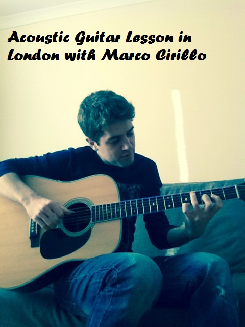 London Acoustic Guitar Lesson with Marco Cirillo Pro Guitar Teacher in London - Kilburn - Central london - Kensington