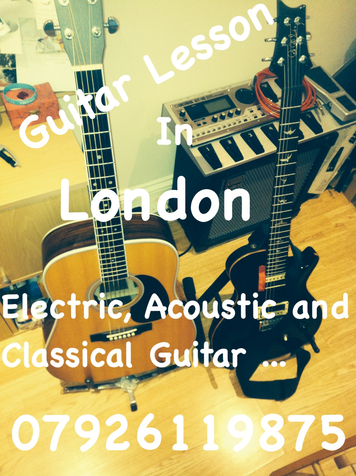 Learn Guitar in London - London Guitar Lesson - Acoustic, Electric and Classical Guitar Lesson in London. Courses organized by Marco Cirillo.