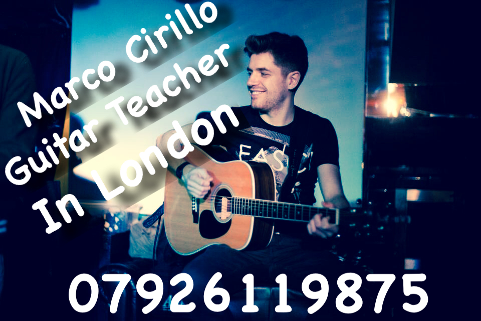Guitar Teacher in London - Electric, Acoustic and Classical Guitar Lesson with Marco Cirillo, Qualified Guitar Teacher in London.