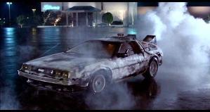 La De Lorean del film Ritorno al futuro