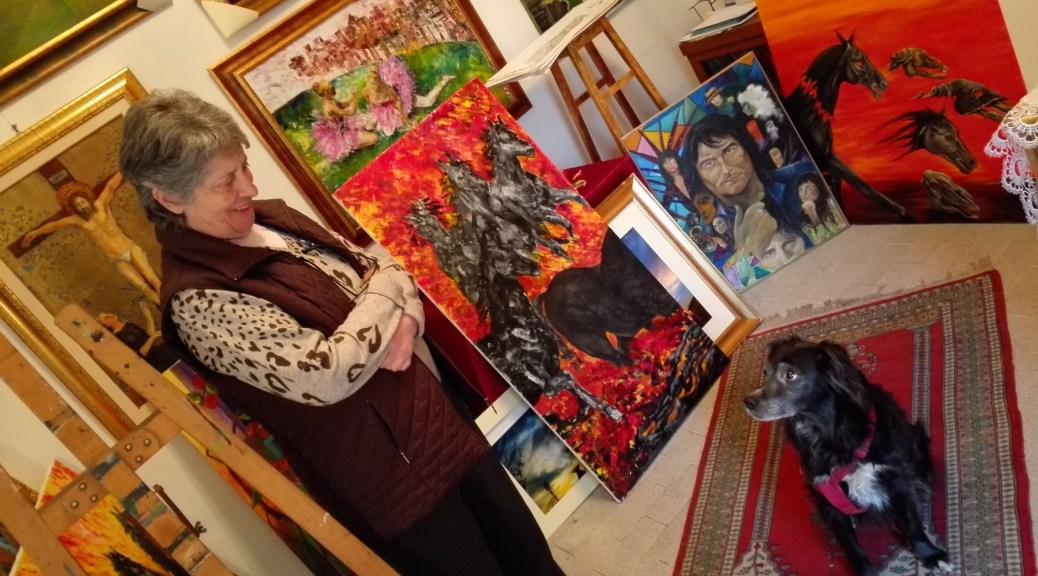 Anna Maceroni, il suo atelier e il suo cane a cui manca davvero la parola - Fiuggi