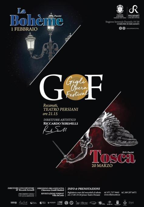 """Locandina del """"Gigli Opera Festival"""" -2020 -"""