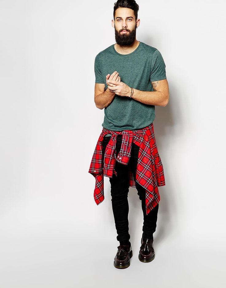 camisa masculina xadrez casual