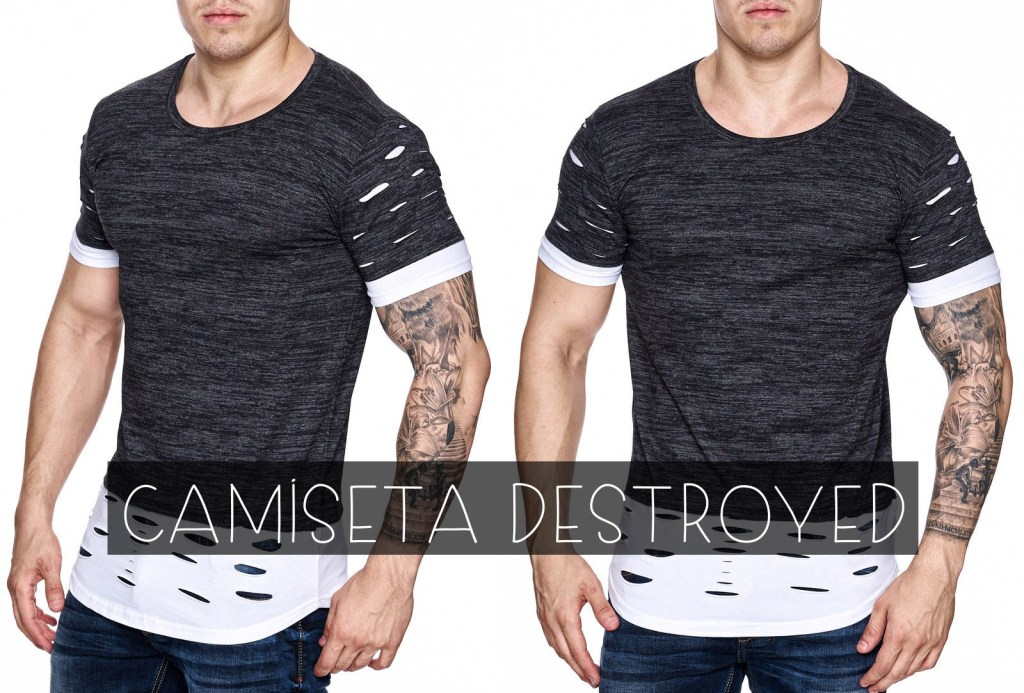 camiseta masculina destroyed