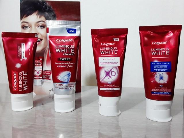 Colgate Luminous White Advanced Clareia Os Dentes