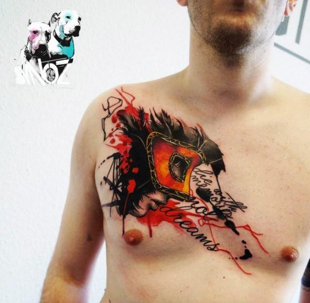 tatuagem no peitoral