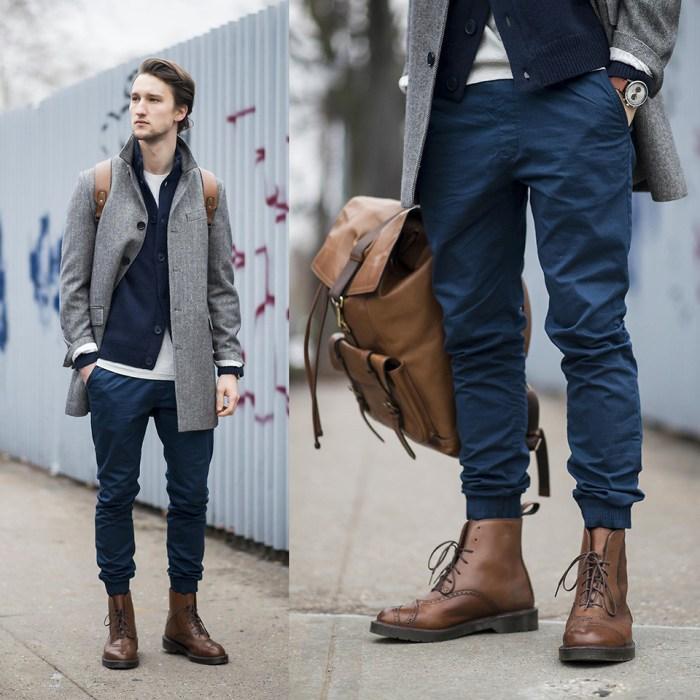 look masculino com bota e jogger