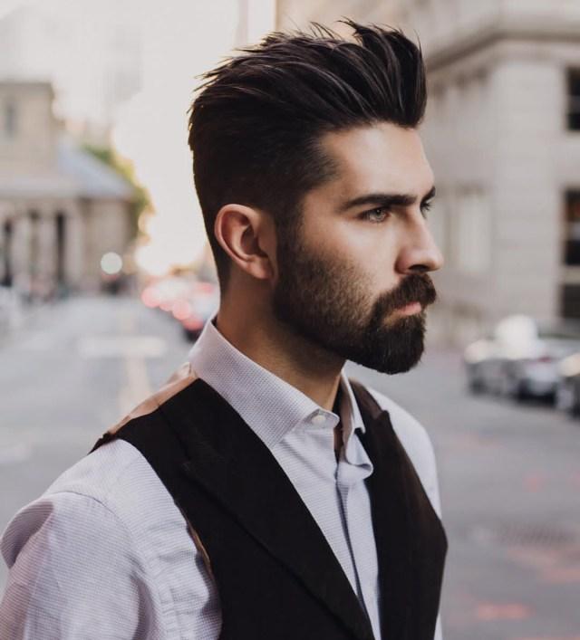cavanhaque e barba curta