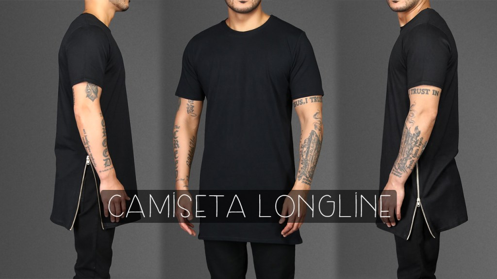 Moda masculina: camiseta longline