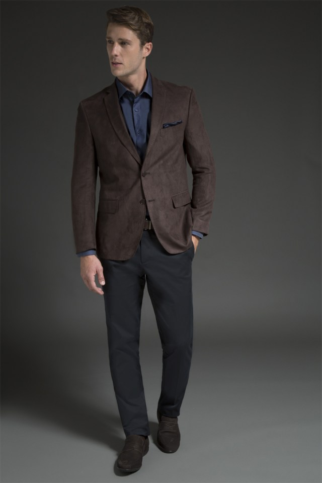 look masculino com blazer