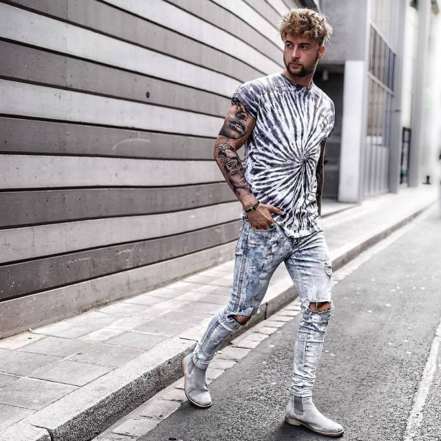 Look masculino casual com bota