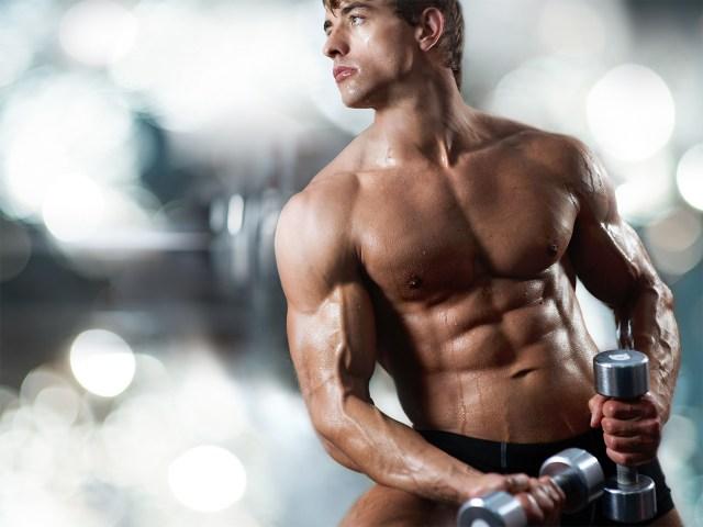 Homem corpo definido com termogênico