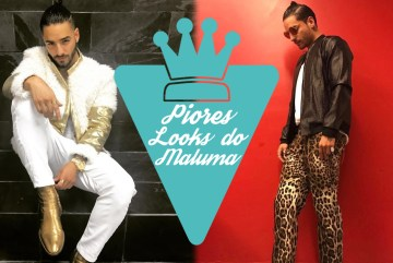 10 piores looks do Maluma