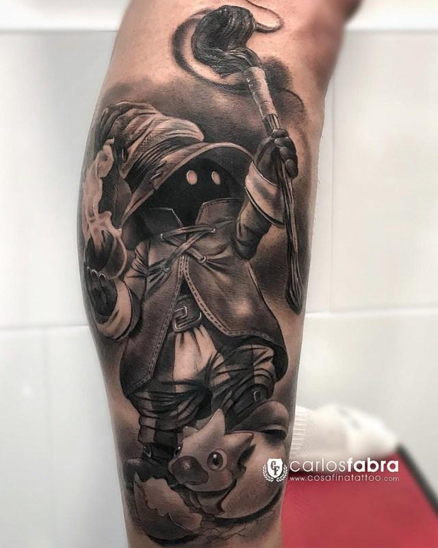 Tatuagem do Vivi Final Fantasy