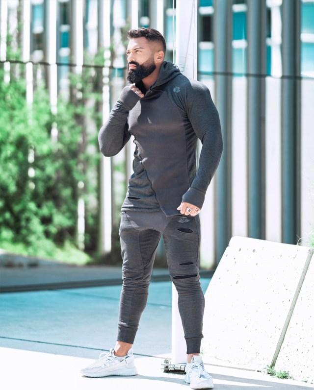 Conjunto esportivo masculino cinza para academia