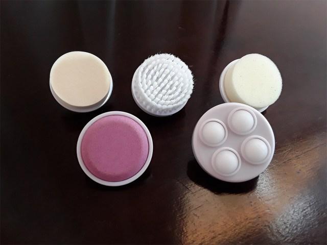 Itens da escova rotativa de limpeza facial