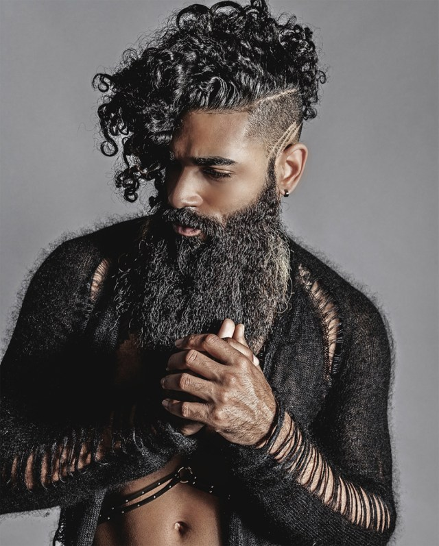 Corte masculino undercut para cabelos cacheados