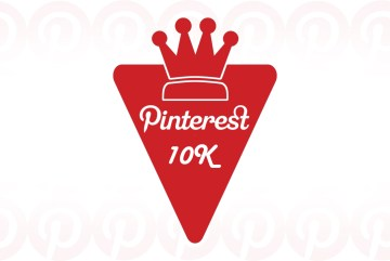10 mil seguidores no Pinterest