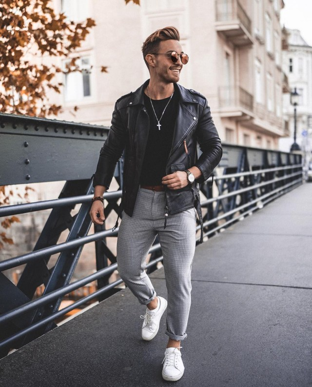 Jaqueta de couro Perfecto masculina