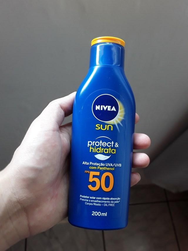 Protetor solar Nivea para rosto e corpo