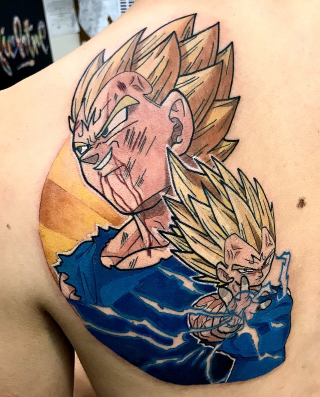 Tatuagem do Vegeta Dragon Ball