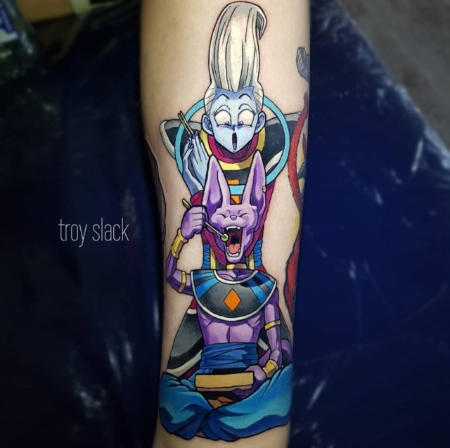 Tatuagem Whis e Bills Dragon Ball
