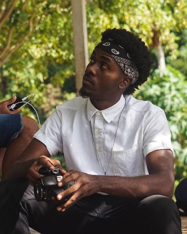 Bandana com cabelo afro para homem