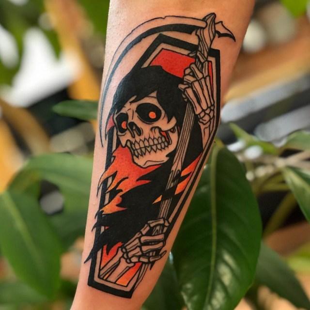 Tatuagem de caveira para homens