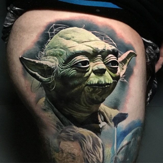 Personagem mestre Yoda de Star Wars