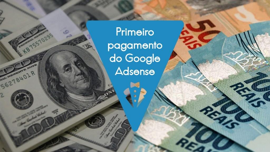 Meu primeiro pagamento do Google Adsense